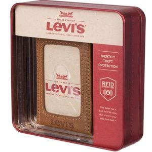 Levi's RFID Blocking Front Pocket Style Wallet Tan